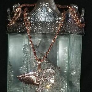 👚👜👝 Diamond Jeweled Pink Necklace 💖💖💖